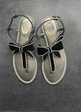 Кожаные сандали-босоножки
