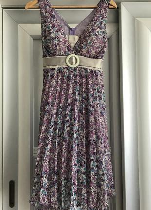 Шифоновое платье миди от rinascimento, юбка плиссе