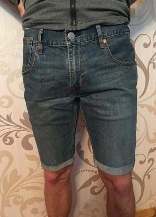 Сині джинсові шорти левіс levis