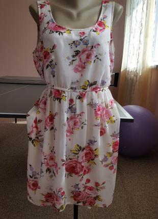 Платье сарафан zara цветы можно беременным