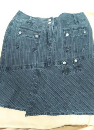 Джинсовая юбочка с люриксовой ниткой