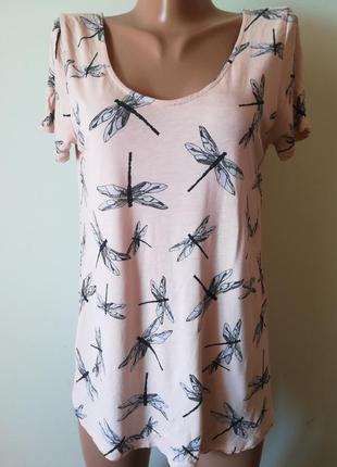 Красивая футболка в стрекоза, сзади с шифоновыми завязками