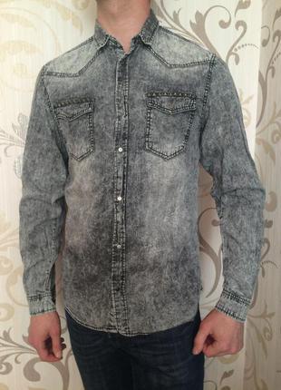Сіра джинсова рубашка cedar wood state