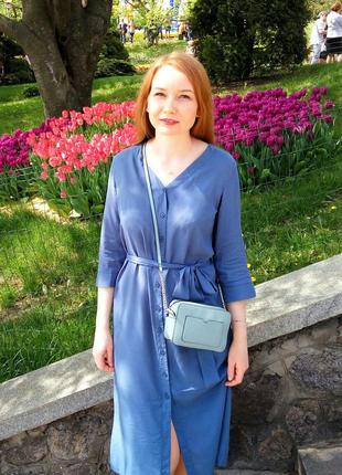 Платье - рубашка летнее, натуральная ткань