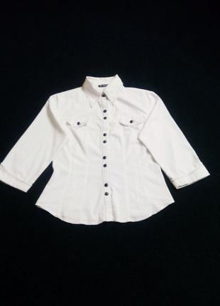Рубашка белая хлопок