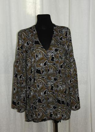 Платье туника с раклешенными рукавами