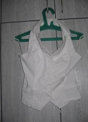 Белая блузка-стрейч тунис pimkie