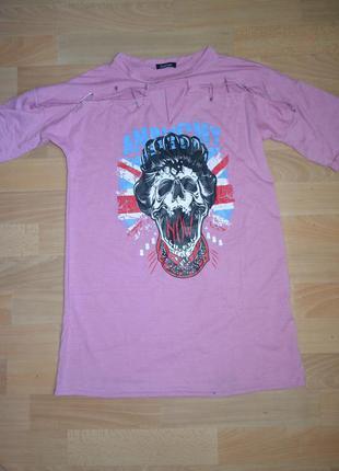 Удлиненная футболка boohoo (m)