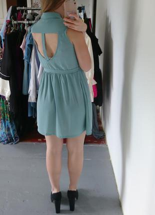 Актуальное мятное платье рубашка №265 glamorous4