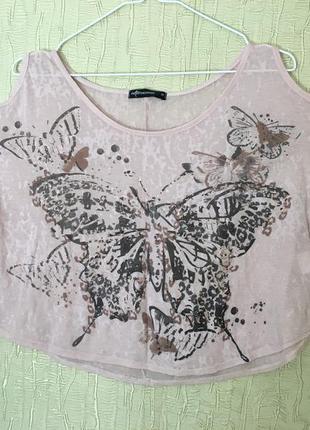 Топ с бабочками