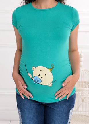 Милая футболка с малышом для беременных