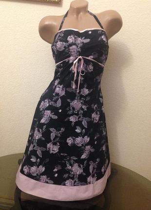 Коктейльное платье - сарафан 100% хлопок