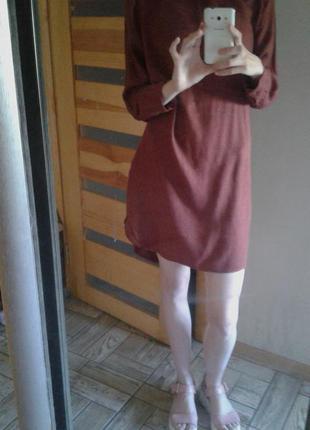 Классная туника- платье c молнией в повседневном стиле