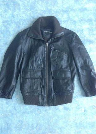 Кожаная куртка бомбер из натуральной лайковой кожи р. 10 м. лучшая цена!