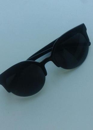 Актуальные солнцезащитные темные очки кошечки лето летние очки
