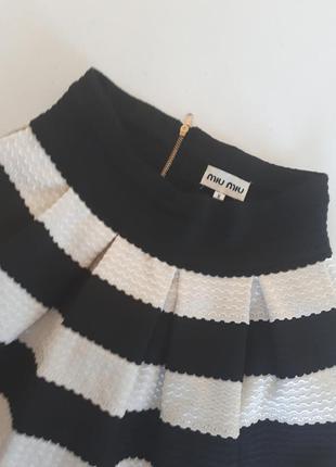 Бандажная юбка miu miu