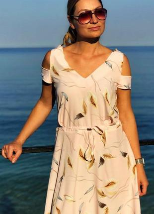 Легкое летнее платье сарафан 8551-0