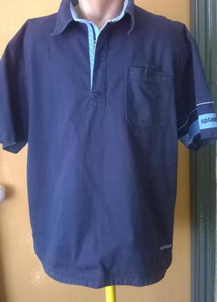 Синяя  футболка – поло  от splashdown,mразмер