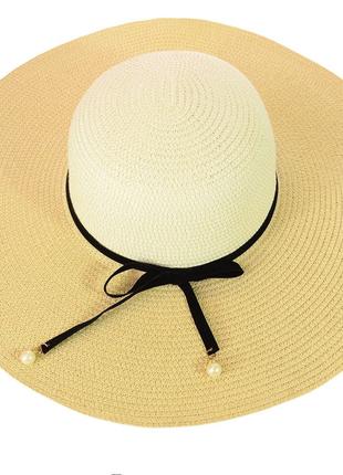 Шляпа широкополая летняя из соломки 56-59