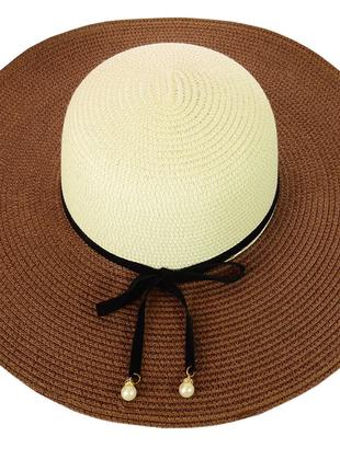 Шляпа широкополая из натуральной соломки 56-59