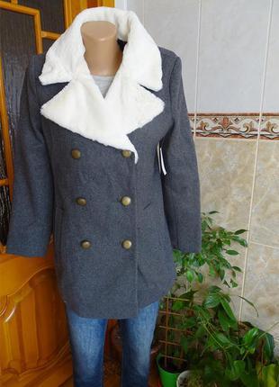 Серое пальто old navy gap xs s весна-осень размер xs-s