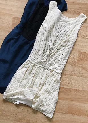 Нарядное платье zara в паетках
