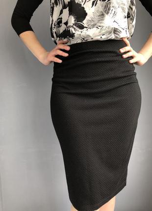 Юбка, юбка чёрная, юбка карандаш,трендовая юбка