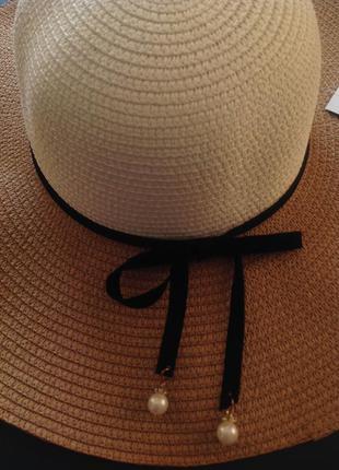 Шляпа летняя широкополая 56-59