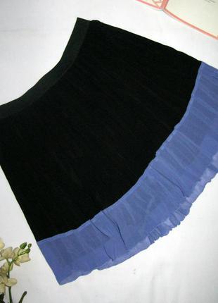 Невесомая молодежная плиссированная юбка спідниця на лето размера s от devided h&m