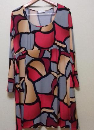 Платье туника большого размера yessica