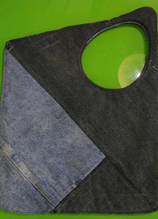 Сумка джинсовая экстравагантная hand made4 фото