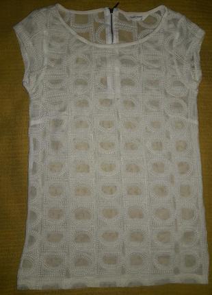 Блузочка сеточка вышивка париж  р. xs