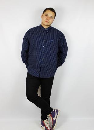 Yves saint laurent  (ysl) мужская рубашка из недавних коллекций с воротом oxford