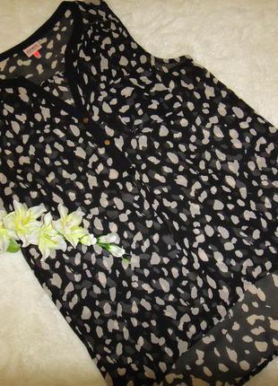 Стильная шифоновая женская футболка, блузка only р. 46 - 48 (40)