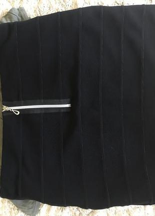 Юбка резинка черная мини h&m бандаж