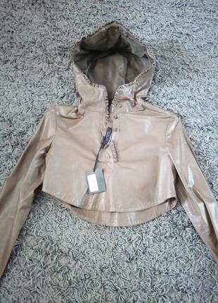 Куртка кожа новая twin set