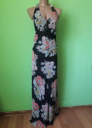 Красивое шифоновое платье макси