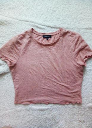 Рожевий кроп топ  new look