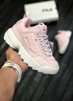 Розовые кроссовки fila 36 37 38 39 40 рр
