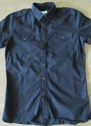 Черная рубашка с коротким рукавом diesel