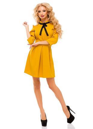 Платье желто-горчичного цвета, 46, 48р., elfberg