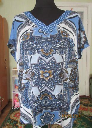 Блуза футболка 18 р-р.большемерит на 20-22