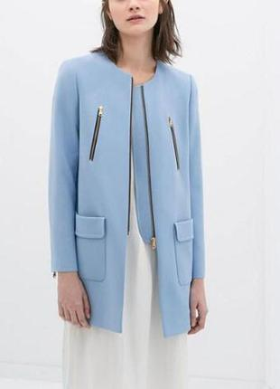 Blue coat/ пальто осенее женское