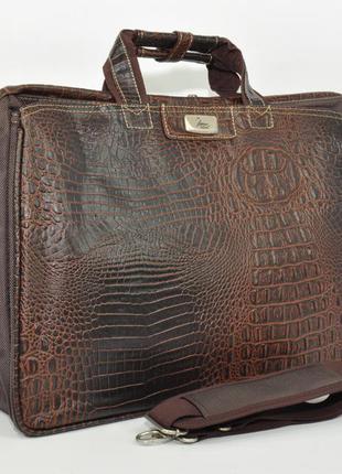 Дорожная сумка, саквояж refiand 88721 aа коричневый кроко