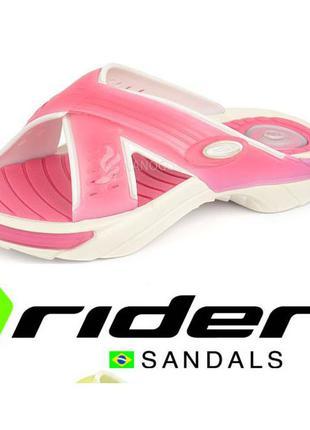 Шлепанцы женские rider fitness fem розовые на липучке бразилия
