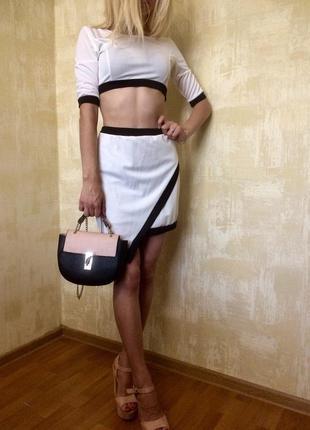 Летний костюм юбка + топ летний костюм  (топ + юбка)!