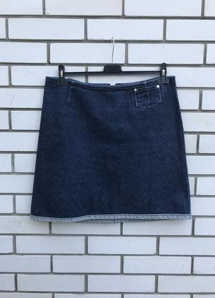 Джинсовая мини юбка а-силуэта,оригинал levis, хлопок