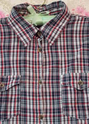 Лёгкая рубашка в клетку итальянского бренда calliope!4 фото