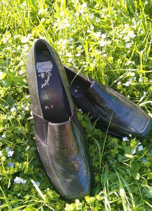 Кожаные лаковые туфли comfort 42p