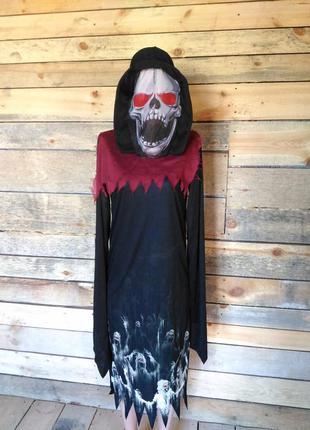 Карнавальный костюм на хэллоуин 13-14 лет (по бирке) можно взрослому демон привидение